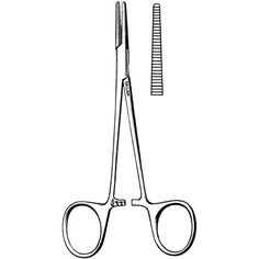 Halsted Mosquito Hemostatic Forceps : lock in clamp blood vessels