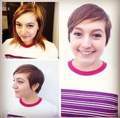 Pixie transformation! Cut by Brandon. Liberated Salon (Los Angeles, CA)