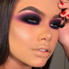 Dramatic Eye Makeup, Colorful Eye Makeup, Blue Eye Makeup, Eye Makeup Tips, Smokey Eye Makeup, Makeup For Brown Eyes, Glam Makeup, Eyeshadow Makeup, Hair Makeup