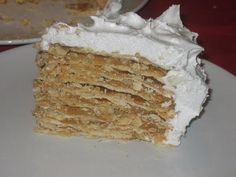 "Mil hojas de dulce de leche - Caramel ""thousand layers"" cake. Best dessert I ever had - and it was in a Costa Rican airport of all places. Looking for an English translation - if you have one, please post link, thanks!"