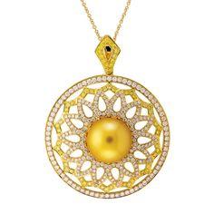 Yael Nectarine pearl pendant