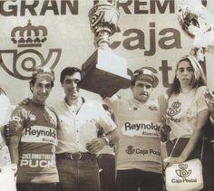 Arroyo y Laguía en el podio final de #LaVuelta de 1982 cc