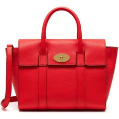 Mulberry Small New Bayswater ($1,055) ❤ liked on Polyvore featuring bags, handbags, fiery red, red handbags, mulberry bag, red bag, flap purse and mulberry purse