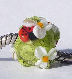 Ladybug Daisy Garden Fits Pandora Style Chains!