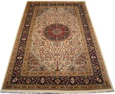 "Beige Tree of Life Persian Rug 6' 1"" x 9' 3"" (ft) http://www.alrug.com/9775"