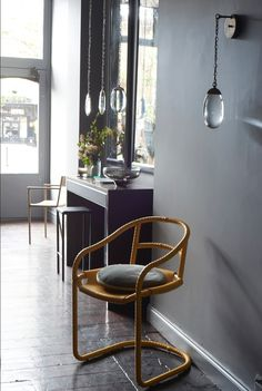 OCHRE Open in Pimlico - the caribou chair in quince.
