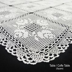 Items similar to Hand Made Table Lace. Completely Hand Craft on Etsy Crochet Tablecloth, Tablecloths, Unique Jewelry, Handmade Gifts, Crafts, Etsy, Crochet Lace, Crocheting, Tejidos