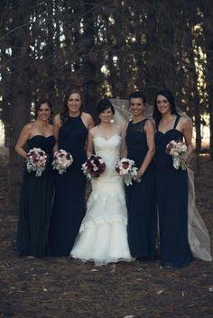 Miss match bridesmaids dresses