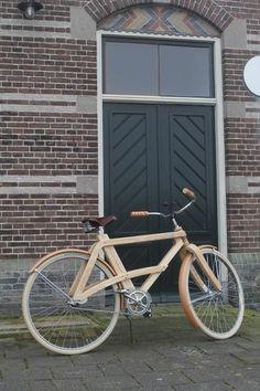 Wooden bike!