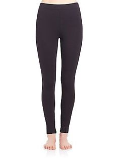 Spanx Cropped Track Leggings - Very Black - Size S