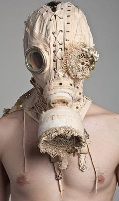 A fashionable take on your standard gas mask ...omg i want this!