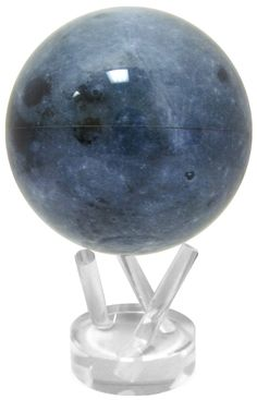 """4.5"""" Moon MOVA Globe Manufacturer Detail The world?s most advanced globe, the MOVA globe rotates silently and is inspired by the earth itself. It requires no power cords or batteries, only the natural"""