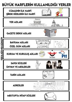 Turkish Language, Worksheets, Literacy Centers, Countertops