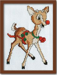 Retro Rudolph Cross Stitch Pattern Instant Download