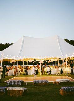 evening, wedding, tent, lights, dance floor                                                                                                                                                     More