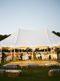 evening, wedding, tent, lights, dance floor
