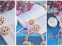 Ciastka z rabarbarem na patyku