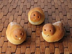 Birdie Bread Rolls: These adorable bird-shaped rolls are just slightly sweet; not like a sweet breakfast roll, more like a slightly sweet dinner roll.