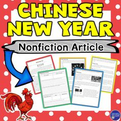 This nonfiction holiday resource is a seven-page packet that will give your students information about the Chinese New Year. Students will learn about the history of this significant holiday as well as traditions that are held each year. Information includes:  the calendar the zodiac animals and characteristics traditions celebrationsThe reading is six pages in length.