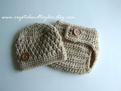 Baby Boy Hat Baby Hat Newborn Hat and Diaper by crystalandtaylor, $27.99