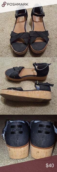 TOMS wedges Gently worn Toms Shoes