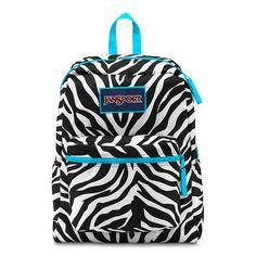 JanSport Overexposed School Backpack - MISS ZEBRA/MAMMOTH BLUE