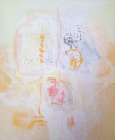"Catherine Booker Jones, ""Yellow Estate"", Acrylic Wax and Gouache, 24x20 - Anne Irwin Fine Art #annemeetsinsta"