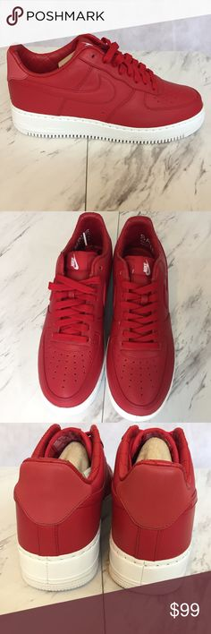 MEN - NWOT- Nike Red Air Force 1 Low Top -sz. 9 These NWOT Men's NIKE Gym red Air Force 1 sneakers are NWOT and have never been worn.   The box is not included. Nike Shoes Sneakers