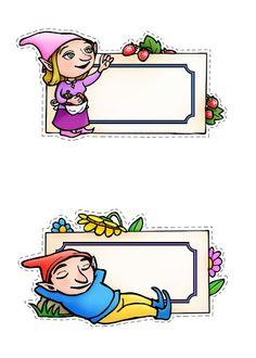 ΚΑΡΤΕΛΑΚΙΑ ΝΑΝΟΙ Gnomes, Envelopes, Fairy, Stickers, Tags, Arabesque, Invitations, Sticker, Elf