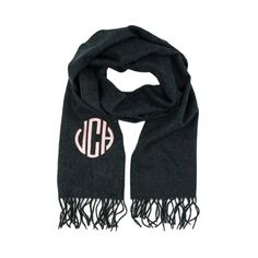 Cashmere Feel Scarves - Charcoal