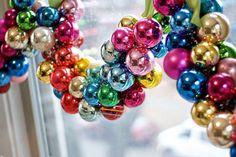 Mardi Gras bead garland.