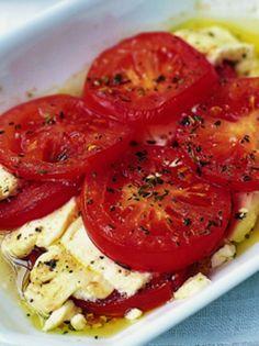 Bruschetta, Food Hacks, Feta, Recipies, Potatoes, Magazine, Vegetables, Drinks, Cooking