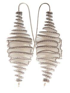 ribbon or silk earrings