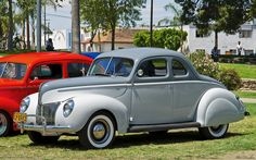 1940 Ford Standard Coupe - 2-tone gray - fvl | Flickr - Photo Sharing! Buick, Muscle Cars, Hot Rods, Birth, Classic Cars, Ford, Gray, School, Cutaway