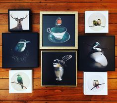 Bird box prints from Ruby Six Bird Boxes, Frame, Prints, Home Decor, Art, Homemade Home Decor, A Frame, Kunst, Frames