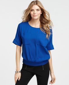 Found this great Cobalt blue top at Ann Taylor. Great customer service as usual.