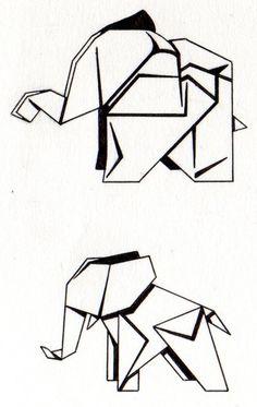 Tattoo Origami Elephants by Psyartista9.deviantart.com on @DeviantArt