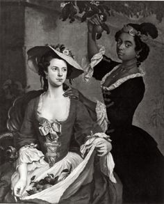 People of Color in European Art History Stephen Slaughter  Portrait of Two Society Women  England (c. 1740s)  Oil on Canvas, 123 x 100 cm.  The Wadsworth Atheneum, Ella Gallup Sumner and Mary Catlin Sumner Collection. See Also: Ellis K. Waterhouse, The Dictionary of British 18th Century Painters in Oils and Crayons (Woodbridge, England, 1981), p. 348.