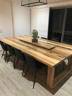 49 Diy Wooden Dining Table Idea - As a DIY person with passion specifically for woodworking, I've always wanted to build a dining room table. It wasn't until I had the weekend free tha. West Elm Dining Table, Wooden Dining Table Designs, Dinning Table Design, Timber Dining Table, Dining Table Legs, Modern Dining Table, Wood Table, A Table, Long Dinning Table