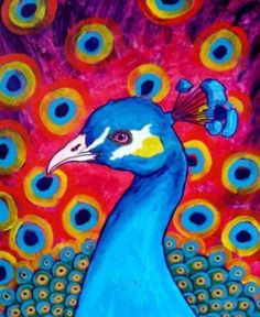 Peacock Art - Love these vivid colors must have, as part of my picture gallery.