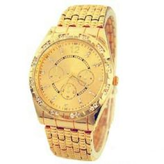 Elegant Gold Watch New gold plated adult watch with crystals...See all items for sale we have the latest in fashion clothing, swimsuits, jewelry, sunglasses, makeup and more! Follow us to stay with the latest fashions daily!  If you like Kate Spade Free People Anthropolgie Urban Outfitters or Brandy Melville Aeropostale Forever 21 H&M Roxy True Religion PacSun Hollister American Eagle Victoria Secret PINK  #flawlessfashions04 Rima Imar Accessories Watches