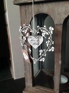 Mr & Mrs heart decoration