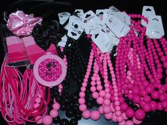 Parisian, Hello Kitty, barbie: girly necklace party favors