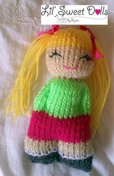 Der Neue comfort doll knitted doll muñeca tejida More, fine stricken, tiere Knitted Doll Patterns, Knitted Dolls, Baby Knitting Patterns, Loom Knitting, Crochet Dolls, Free Knitting, Knitted Poncho, Knitting Stitches, Crochet Amigurumi