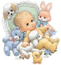 Figuras para decoupage - bebês - por Ruth Morehead