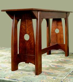 Beautiful Arts and Crafts style table, Cold River Furniture