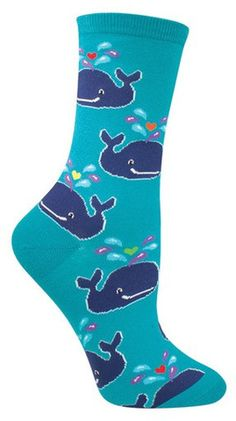fun whale animal socks by socksmith for women