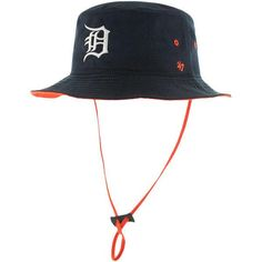 Get ready for the season with this Detroit Tigers Kirby bucket hat from '47! It features authentic Detroit Tigers graphics and colors that'll show everyone where your allegiances lie!  Material: 100%