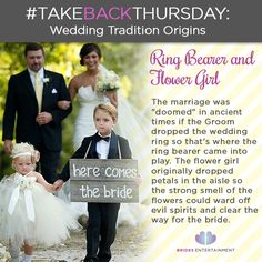 Wedding Tradition Origins Wondering Where The Adorable Of Ring Bearer And Flower Came