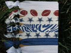7 Pack NFL Dallas Cowboys Football Knot HairTies by LoveMeKnotHairTies, $5.00